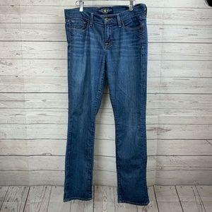 Lucky Brand Women's Sofia Straight Leg Blue Jeans